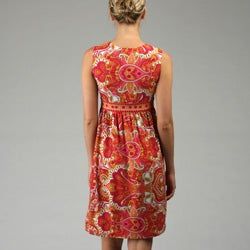 Thumbnail 2, London Times Women's Sleeveless Empire Waist Dress. Changes active main hero.