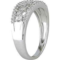 10k White Gold 1/2ct TDW Diamond Ring - Thumbnail 1