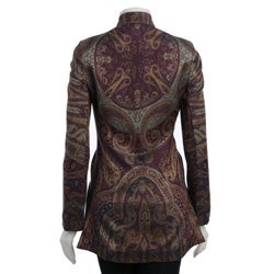 Women's Plum Maharani Long Sleeve Silk Jacket (India) - Thumbnail 1