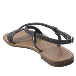 Bamboo by Journee Women's Strappy Flat Sandals - Thumbnail 1