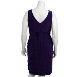Jones New York Women\'s Plus Size Shutter Pleat Dress