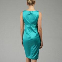 Evan Picone Women's Tulip Stretch Satin Sheath Dress - Thumbnail 1