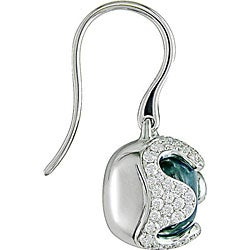 Miadora 18k Gold Aquamarine and 9/10ct TDW Diamond Earrings (G-H, SI)