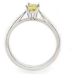 14k White Gold 1/4ct TDW Yellow Diamond Ring