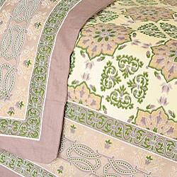 Sodhi Kalamkari King 3-piece Cotton Duvet Set (India) - Thumbnail 1