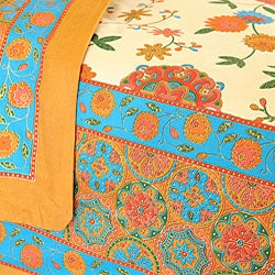 Sodhi Spring Multi 3-piece Queen Duvet Set (India) - Thumbnail 1