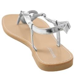 Bamboo by Journee Women's Metallic Slingback Sandals - Thumbnail 1