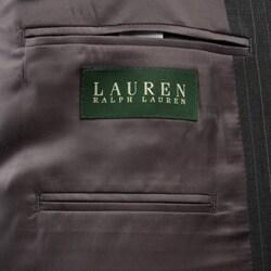 Lauren by Ralph Lauren Men's 3-piece Grey Pinstripe Wool Suit