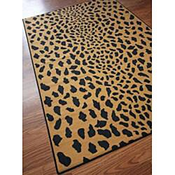 Thumbnail 2, nuLOOM Infiniti Collection Leopard Animal Print Gold Rug (4'5 x 6'9). Changes active main hero.