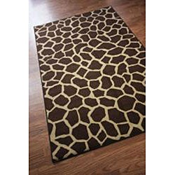 nuLOOM Infiniti Collection Giraffe Animal Print Brown Rug (6'7 x 9'2) - Thumbnail 1