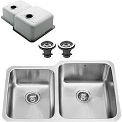 VIGO Undermount Stainless Steel Kitchen Sink and Faucet - Thumbnail 1