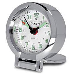 Dakota Men's Etched Fisherman Travel Alarm Clock - Thumbnail 1