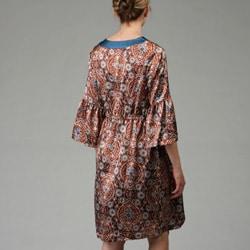 Everly Grey Women's Sonya Maternity Bell-sleeve Dress - Thumbnail 1