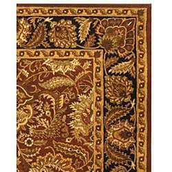 Safavieh Handmade Classic Jaipur Rust/ Black Wool Rug (7'6 x 9'6) - Thumbnail 1