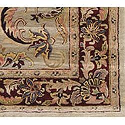 Safavieh Handmade Bukan Light Green Wool Rug (6' x 9') - Thumbnail 1