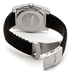 I by Invicta Men's Rubber and Stainless Steel Black Watch