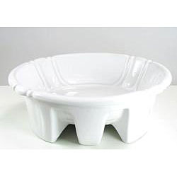 DeNovo Self-Rimming Decorative Porcelain White Bathroom Sink - Thumbnail 1