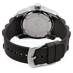 Swiss Legend Men's Commander Black Silicone Watch - Thumbnail 1