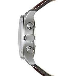 Golana Swiss Men's 'Aero Pro 200' Steel Case Leather Strap Watch