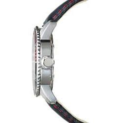 Golana Swiss Men's 'Aqua Pro 200' Steel Case Leather Strap Watch - Thumbnail 1