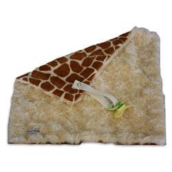 Sweet Ruby's 13x13 Inch Giraffe Cream Binky Baby Blanket