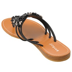Bamboo by Journee Women's 'Midnight' Embellished Sandals - Thumbnail 1