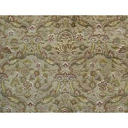 Indo Hand-knotted Kirman Beige Wool Rug (9' x 12')