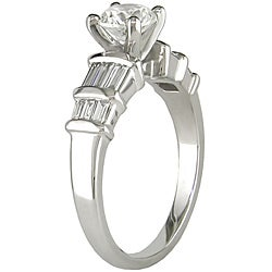 14k White Gold 1ct TDW Diamond Engagement Ring (G-H, I1-I2) - Thumbnail 1