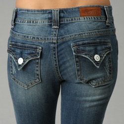 Miss Vigoss Womenu0026#39;s Flap Back Pocket Denim Cropped Capri - Free Shipping On Orders Over $45 ...