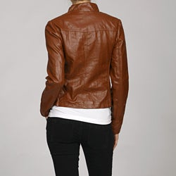 Steve Madden Women's Zip-front Power Stitched Sides Jacket - Thumbnail 1