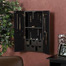 Mirrored Double-door Wall-mount Jewelry Box - Thumbnail 1