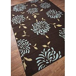 nuLOOM Infiniti Stardust Floral Chocolate Rug (4'5 x 6'9) - Thumbnail 1
