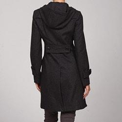 Miss Sixty Women's Hooded Long Peacoat