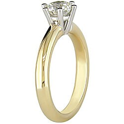 Miadora 14k Gold 1ct TDW Diamond Solitaire Engagement Ring (G-H, VS2) - Thumbnail 1