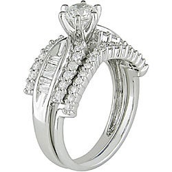 14k White Gold 1ct TDW Diamond Bridal Ring Set (G-H, I1-I2) - Thumbnail 1