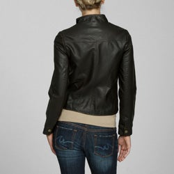 Miss Sixty Women's Zippered Faux Leather Bomber Jacket