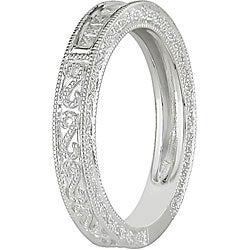 Miadora 10k White Gold 1/5ct TDW Diamond Anniversary Ring (H-I, I2-I3)