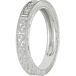 Miadora 10k White Gold 1/5ct TDW Diamond Anniversary Ring (H-I, I2-I3) - Thumbnail 1