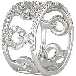 18k White Gold 7/8ct TDW Diamond Fashion Ring