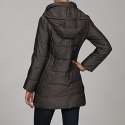 Anne Klein Women's 3/4 Quilted Down Coat