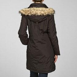 MICHAEL Michael Kors Women's 3/4 Faux Fur Polyfill Jacket - Thumbnail 1
