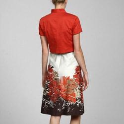 Studio 1 Women's Solid Jacket and Jungle-print Dress Set