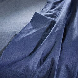 Dark Heathered Blue Cotton Full/ Queen-size Sheet Set - Thumbnail 1