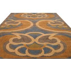 Hand-tufted Byron Abstract Wool Rug (7'9 x 9'9) - Thumbnail 1
