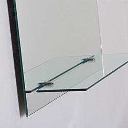 Roland Frameless Wall Mirror with Shelf