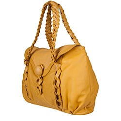 Made in Italy Desmo Camel Deerskin Satchel - Thumbnail 1