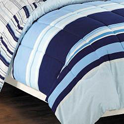 Newport Blue Queen-size 7-piece Bed in Bag with Sheet Set - Thumbnail 1