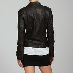 MICHAEL Michael Kors Asymetrical Zip Leather Motorcycle Jacket - Thumbnail 1