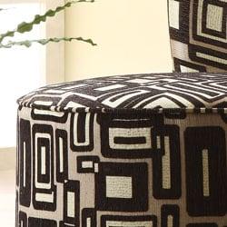 Moda Black/ Grey Print Round Swivel Chair - Thumbnail 1