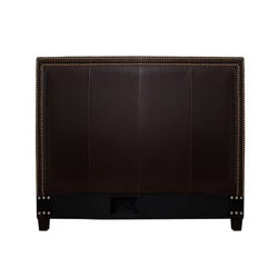 Victoria Dark Brown Leather Full-size Headboard - Thumbnail 1